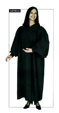 Basic Black Minister Robe