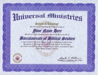 Biblical Religious Bachelor Degree