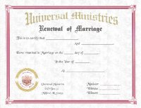 Plain Certificate of Marriage