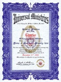 Charter of Congrational Affiliation